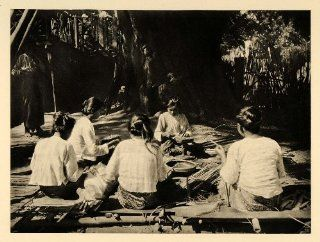 1929 Bagan Burma Myanmar Lacquer Baskets Weaving Child   Original Photogravure   Prints