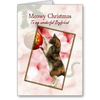 Boyfriend, Meowy Christmas Card