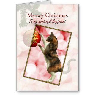 Boyfriend, Meowy Christmas Card