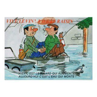 Vintage France, Cartoon; Vive la Vin Poster