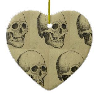 Halloween Scary Skulls Design Christmas Tree Ornament