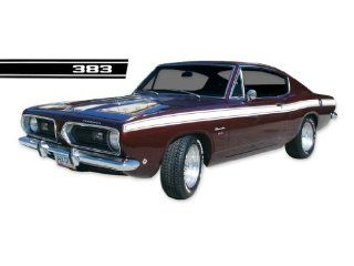 1969 Plymouth Barracuda 'Cuda 383 Decals & Upper Body Stripes Kit   RED Automotive