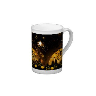 Flying Witch Harvest Moon Bats Halloween Gifts Porcelain Mug