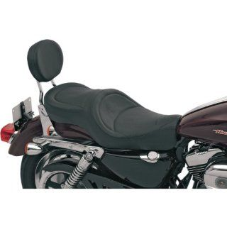 Drag Specialties Mild Stitch Wide Low Profile Motorcycle Seat For Harley Davidson Sportster Models 2004 2012   0804 0298 Automotive