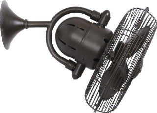 """Kaye 17"""" Textured Bronze Oscillating Table or Wall Fan: Home Improvement"""