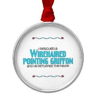 I Rescued a Wirehaired Pointing Griffon (Male Dog) Ornament