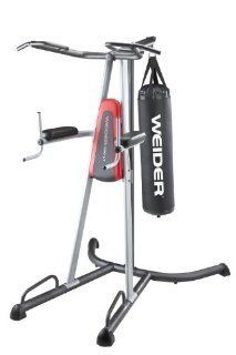 Weider 390 LT Power Tower Home Gym : Chinup Dip Station With Punching Bag : Sports & Outdoors