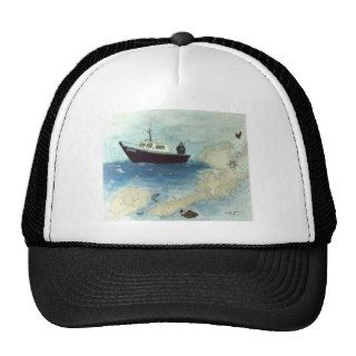 F/V FREJA Dutch Harbor Alaska Sport Fishing Boat Mesh Hats