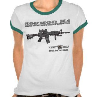 SOPMOD M4 Navy SEALs Ladies Ringer T Shirt