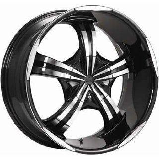 Motiv Mayhem 20x9 Chrome Black Wheel / Rim 5x4.5 & 5x4.75 with a 15mm Offset and a 83.82 Hub Bore. Partnumber 404CB 2900415 Automotive