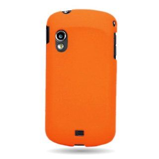 CoverON� Matte Snap On NEON ORANGE RUBBERIZED Hard Case Cover For SAMSUNG I405 SCH i405 STRATOSPHERE / i405U GALAXY METRIX With PRY Triangle Case Removal Tool [WCP713] Cell Phones & Accessories