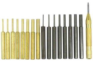 Ultimate Arms Gear AR15 AR 15 M4 M16 Gun Rifle 18 pc Gunsmithing Armorer Steel Roll Pin Starters Pin Punch Disassembly Takedown Tool Set Kit Includes 8pc Solid Brass Punches + 8pc Heat Treated Steel Punches + Spring Loaded Automatic Center Punch with Hard