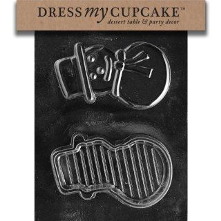 Dress My Cupcake DMCC404 Chocolate Candy Mold, Snowman Pour Box, Christmas Kitchen & Dining