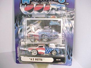 2003 Muscle Machines '62 Vette Corvette # 03 46 Stars and Stripes with Blower   Die Cast Adult Collectible 164 Scale Toys & Games