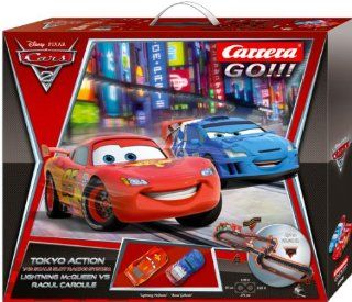 "Disney Cars 2 143 Scale Slot Car Racing Track Set ""Tokyo Race Action"" Toys & Games"