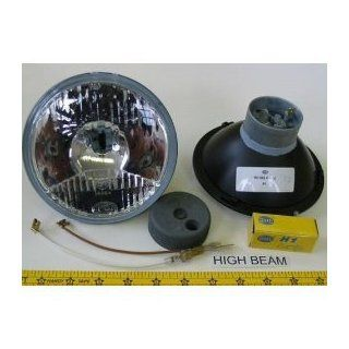 "Hella 5 3/4"" Round E Code Conversion High Beam Headlight Kit with Replaceable 110W Yellowstar Bulbs Automotive"