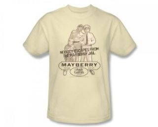 Andy Griffith   Andy Griffith / Mayberry Jail Slim Fit Adult T Shirt In Cream: Clothing