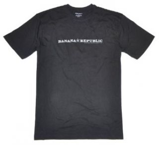 Banana Republic Men Logo Classic Fit T Shirt (XXL, Black) at  Men�s Clothing store