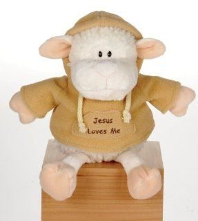 "USA Wholesaler  7138909 7"" Lamb With Jesus Loves Me Sweat Shirt Case Pack 36: Sports & Outdoors"