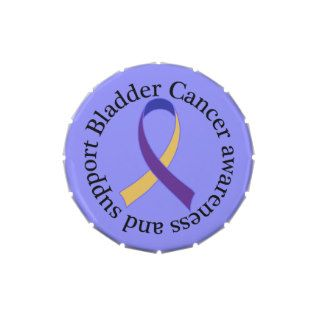 Bladder Cancer Awareness Ribbon Jelly Belly Candy Tin