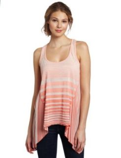 Testament Women's Dip Dye Razor Back Tank Top, Coral, Medium Clothing