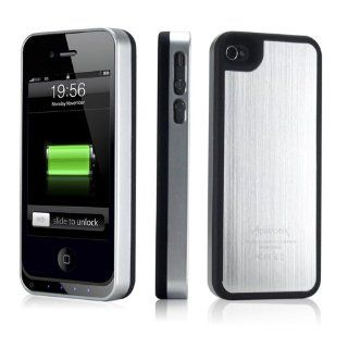 Alpatronix MFi Apple Certified BX100 1900mAh iPhone 4/4S Battery Charging Case (Ultra Slim Removable Extended Battery, Fits all models of Apple iPhone 4/4S   Retail Packaging)   Aluminum Silver/Black Cell Phones & Accessories