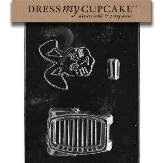 Dress My Cupcake DMCE428SET Chocolate Candy Mold, 3D Bunny Pour Box, Set of 6 Kitchen & Dining
