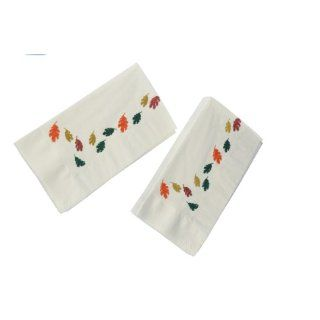 "Dinex DXHR431DN01 Paper Autumn Leaves Design 2 Ply Dinner Napkin with 1/8 Fold and Coin Edge Embossed, 17"" Length x 15"" Width (Case of 1000): Industrial & Scientific"