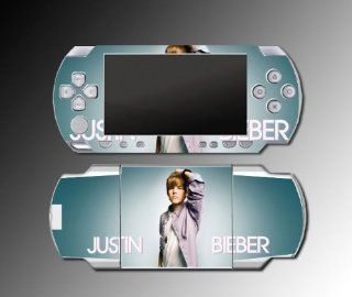 Justin Bieber Music Concert Baby Boyfriend My World 2.0 Mistletoe Video Game Vinyl Decal Skin Protector Cover Kit for Sony PSP 1000 Playstation Portable: Video Games