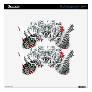 Cool Japanese Dragon Tattoo Art Decal For PS3 Controller
