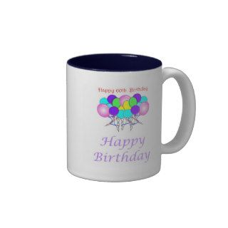Happy 60th Birthday Gift Coffee Mugs