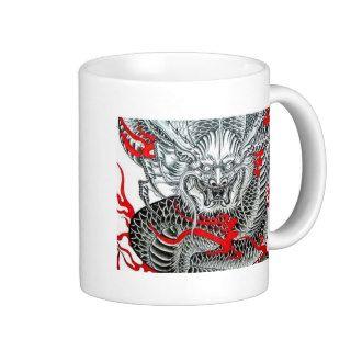 Cool Japanese Dragon Tattoo Art Coffee Mug