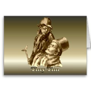 Bob Cratchit and Tiny Tim Christmas Carol Cards