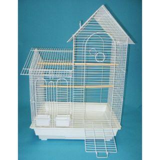 Villa Top Small Bird Cage with 2 Feeder Doors