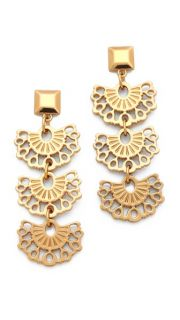 Tory Burch Madura Frete Drop Earrings
