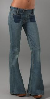 Genetic Adriane Mid Rise Quilted Bell Jeans