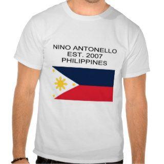 Nino Antonello Est. 2007 Philippines Flag Tshirts