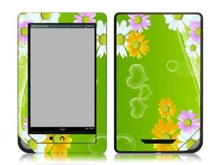 Bundle Monster Nook Color Nook Tablet Vinyl Skin Decal Sticker   Green Daisies