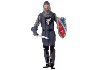 Mens Medieval Knight Costume   Grey
