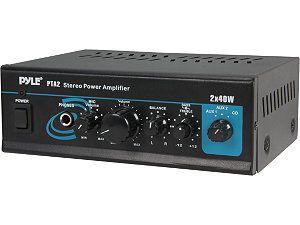 PYLE PTA2 Mini 2 x 40W Stereo Power Amplifier