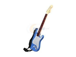 MadCatz Wii Rock Band 3 Wireless Fender  Stratocaster Guitar   Blue