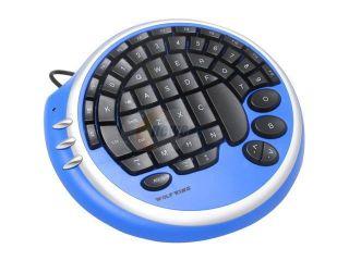WOLF KING Warrior DK2388UBL Ice Blue 55 Normal Keys USB Ergonomic GamePAD