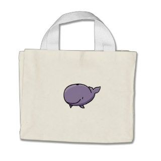 Cartoon Whale Tote Bag