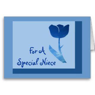 Happy Birthday, Niece, blue tulip Cards
