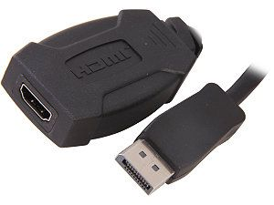 C2G 54130 DisplayPort 1.1 Male to HDMI® Female Adapter Cable