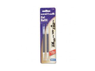 uni ball Refill for uni ball Signo Gel 207, Medium, Blue Ink, 2/Pack