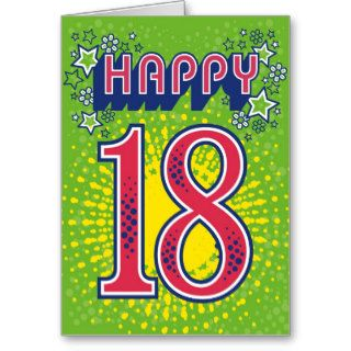 Happy 18th Birthday Greeting Cards
