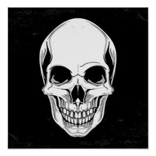 Scary Skull On Grunge Background Poster