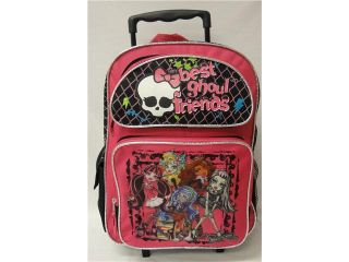 "Monster High Best Ghoul Friends 16"" Large Rolling Backpack"