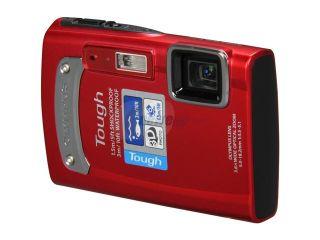 OLYMPUS TG 310 Red 14 MP 3.6X Optical Zoom Waterproof Shockproof 28mm Wide Angle Digital Camera